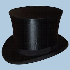 Antique Silk Collapsible Top Hat
