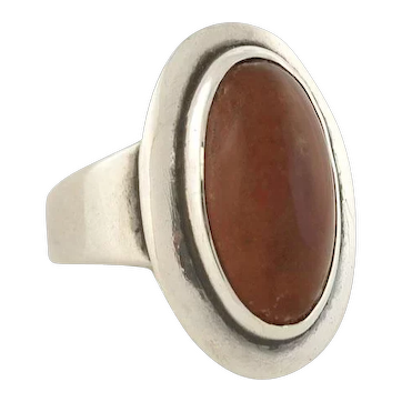 NEILS ERIK FROM Vintage Sterling Silver Amber Ring