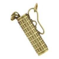 Art Deco 14kt Old-Fashioned Golf Clubs Charm