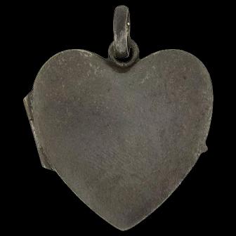 Victorian Gunmetal Heart Shaped Locket