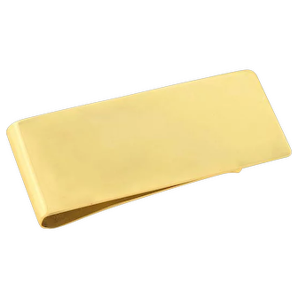 TIFFANY & CO. Retro 14kt Gold Money Clip