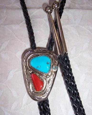 Zuni Indian Effie Calavaza Sterling Silver Turquoise Coral