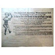 Antique Mason Taylor Wood Doll Advertisement