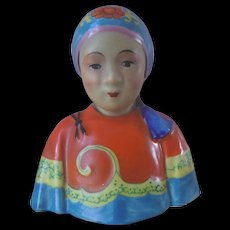 Vintage Asian Chinese Female Figure Bust Zeng Longsheng Studio? Republic