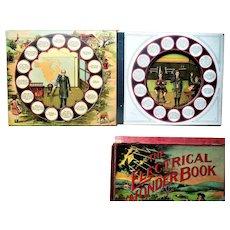 Electrical Wonder Moveable Arm Book Milton Bradley 1910 in original box