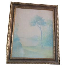 Antique J McDonough Impressionistic Arts and Crafts Landscape Oil Painting signed dated