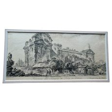 Antique Piranesi 18thC Engraving Etching