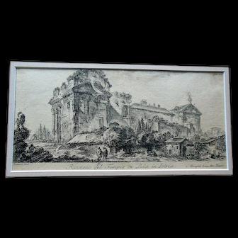 Antique Piranesi 18thC Engraving Etching