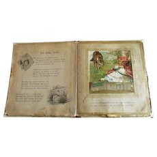 Antique Nister Pastime Pictures Transformation Movable Scenes Children's Book Red Riding Hood Teddy Bear etc.