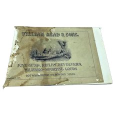 1826 William Read & Sons Gun Military Sporting Good Catalogue