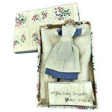 Vintage Wood Nurse Clothespin Doll Danbury Connecticut Hospital 1928