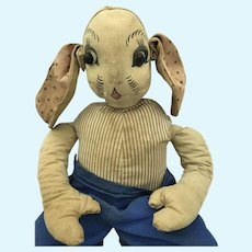 Vintage Uncle Wiggily Easter Rabbit Cloth Doll