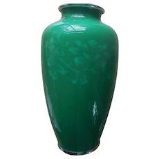Vintage Asian Chinese Japanese Enamel Silver Vase