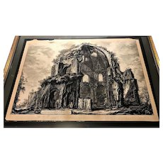 Antique Giovanni Battista Piranesi Large 18C Etching Engraving
