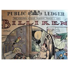 1909 Billiken Philadelphia Public Ledger Sunday Newspaper Comic  Strip