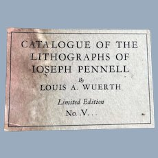 1931 Catalogue Book Lithographs Joseph Pennell Louis A Wuerth Limited Edition