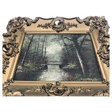 Antique Landscape Oil Painting Frederick Matzow C.T. Mitchell Handel Artist sgnd