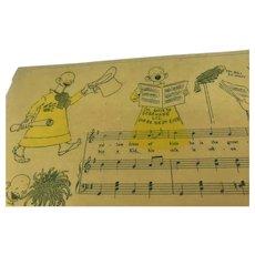Antique RF Outcault Yellow Kid Homer Tourjee Sheet Music Comic Strip 1895