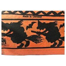 14 Vintage Halloween Witch Black Cat Crepe Paper Hat Lot Germany