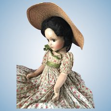"""30s Madame Alexander Scarlett O'Hara 18"""" Composition Gone with the Wind Doll"""