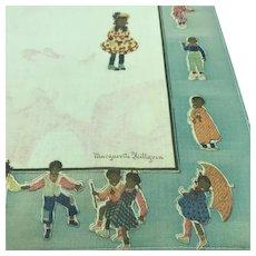 Antique Black Americana Child Handkerchief Marguerite Hillgren