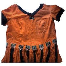 Old Vintage Black Cat Jack O Lantern Orange Halloween Costume