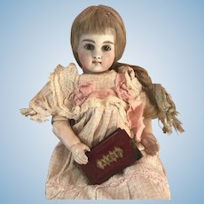 Antique Doll Miniature Picture Pocket Album with Tin Type Pictures