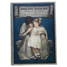Antique 1908 1st Ed. Dream Blocks Jessie Willcox Smith Children's Book