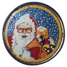 Vintage Jacobs Biscuits Santa Claus Christmas Cake Tin 1920s