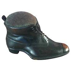 Antique Bronze Metal Shoe Sewing Pin Cushion