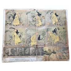 19C Yellow Kid Outcault Cigar Newspaper Santa Claus etc Comic Strips Scrapbook