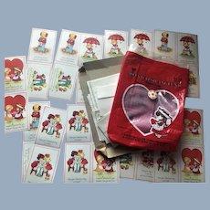 1983 Joan Walsh Anglund Doll 36 Valentine Cards in Original Package unused