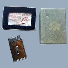 Vintage Art Deco Evans Cigarette Lighter in Original Box