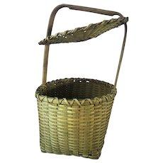 Antique Primitive Woven Feather Basket