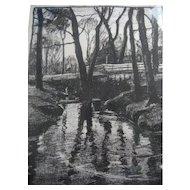 Lovely Margaret Patterson Landscape Lithograph pencil signed