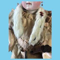 Elegant Antique French German Doll Ermine Fur Stole Accessory