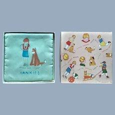 Little Orphan Annie Comic Character Hanky Handkerchief Case Holder n Original Box