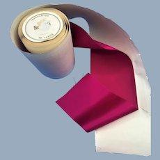 Antique Lush Pink Silk Luxurious Ribbon Bolt Roll