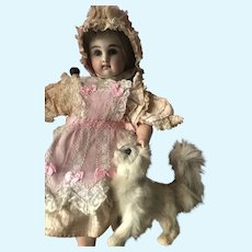 Antique French Bebe Fashion Poupee Salon Dog for Doll Display
