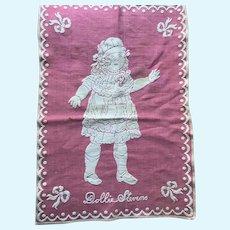 Vintage Sweet & Lovely Dolly Stevens Pretty Pink Doll Blanket