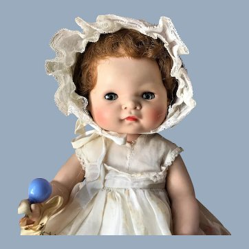 "1950s American Character 16"" Toodles Baby Doll in Original Dress"