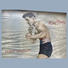 Vintage Packy McFarland Boxing Police Gazettes Gallery of Ring Greats Lithograph