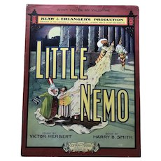 Antique Victor Herbert 1909 Sheet Music Little Nemo Comic Character