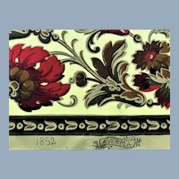Antique Band Box Wallpaper 1852 AWPMA >3 Yd Roll Garden Botanical Floral Print