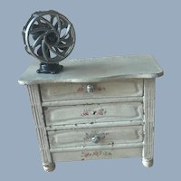 Antique Dollhouse Miniature Metal Cooling Fan with Movable Blades