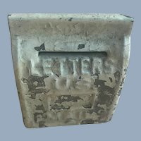 Old Vintage Tin Dollhouse Mail Letter Box Miniature