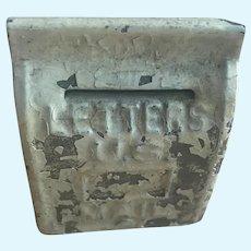 Old Vintage Tin Dollhouse Mail Letter Box Miniature