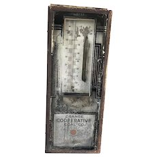 Antique Scientific Weather Indicator Advertising Thermometer Lehigh Coal Mining Navigation Company PA.
