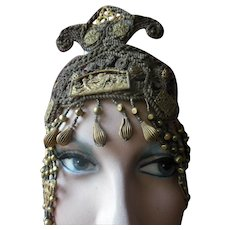 Ancient Roman Poseidon Harem Gold Headpiece Hair Veil Jewelry