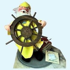 Mint Vintage Annalee Salty Santa Seaside Doll w Lobster Trap Wood Ship Wheel